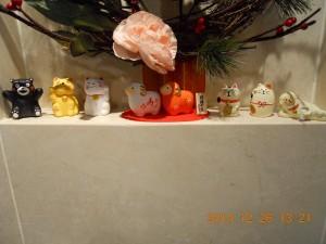 フォンテーヌ駒沢 正月飾りの縁起物達